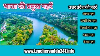 Majar Canals of India list 2021