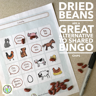 Dried Beans are a great alternative to bingo counters