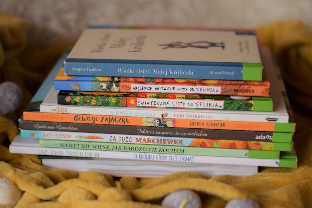 Książki dla dzieci o króliczkach / zajączkach  (zdobycze biblioteczne)