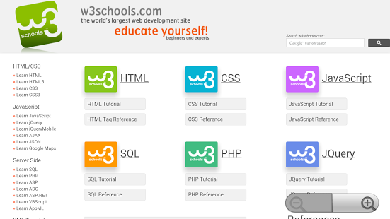 حمل و تصفح  افضل موقع للبرمجة W3schools بدون انترنت