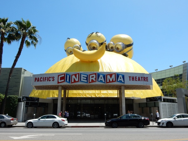 Minions Cinerama Dome banana installation