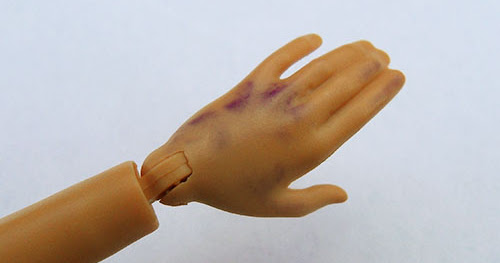 Remove ink spot from Barbie or other dolls skin