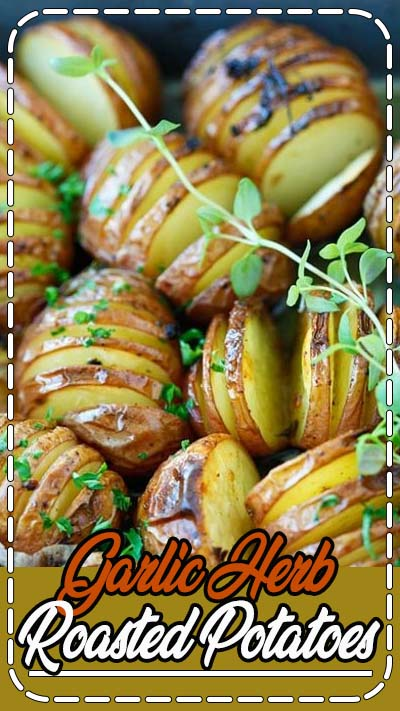 Garlic Herb Roasted Potatoes - the easiest and best roasted potatoes with olive oil, butter, garlic, herb and lemon. Great side dish for Easter! | rasamalaysia.com