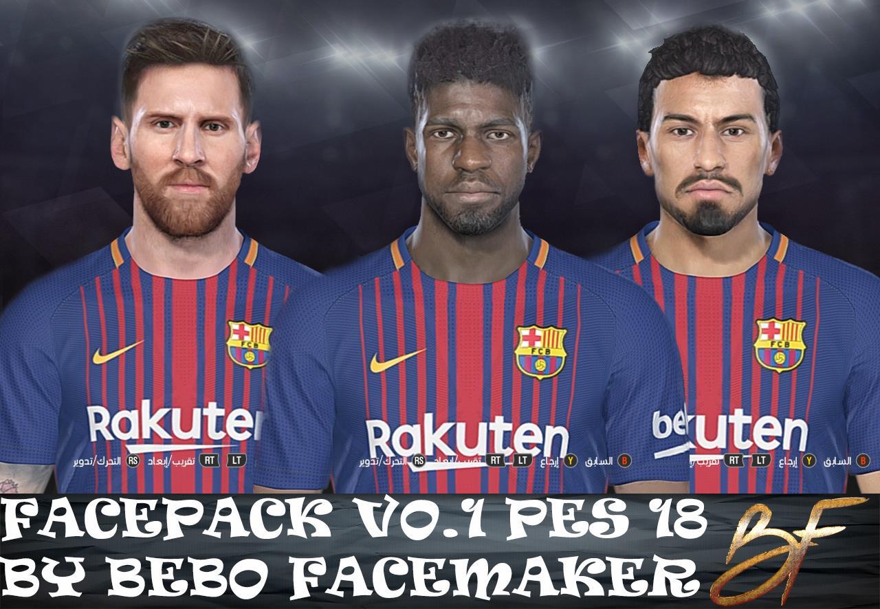 PES 2018 Facepack Vol. 1 by Bebo Facemaker