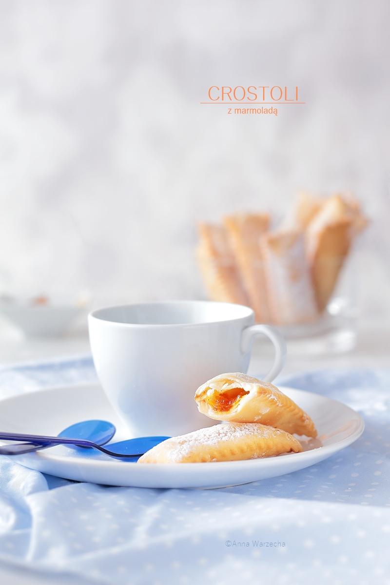 Crostoli z marmoladą dyniowo-pomarańczową