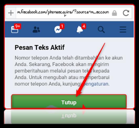 cara mengubah nomor telepon di fb