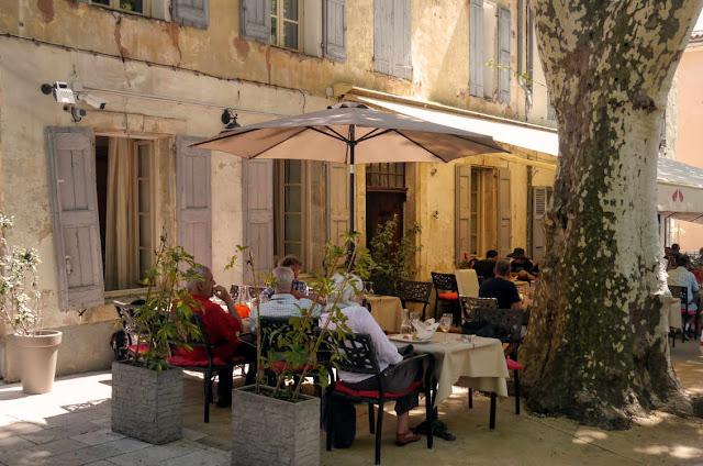 Outside Le Restaurant du Cours, Cotignac. France