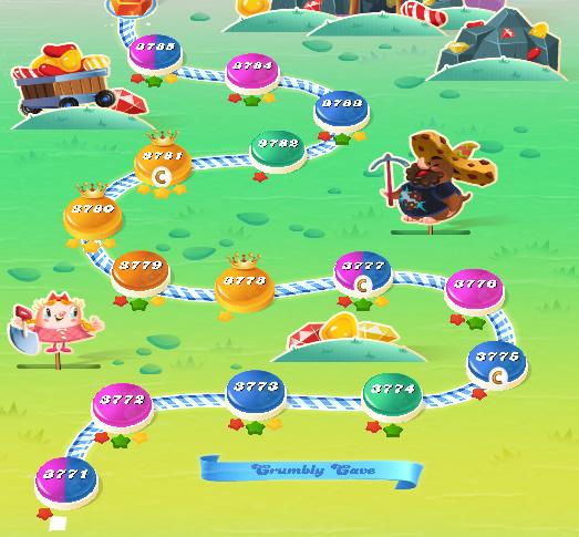 Candy Crush Saga level 3771-3785