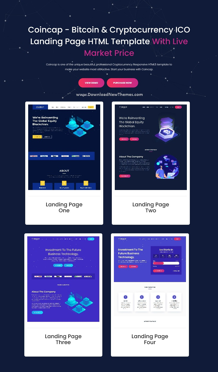 Cryptocurrency ICO Landing Page Template