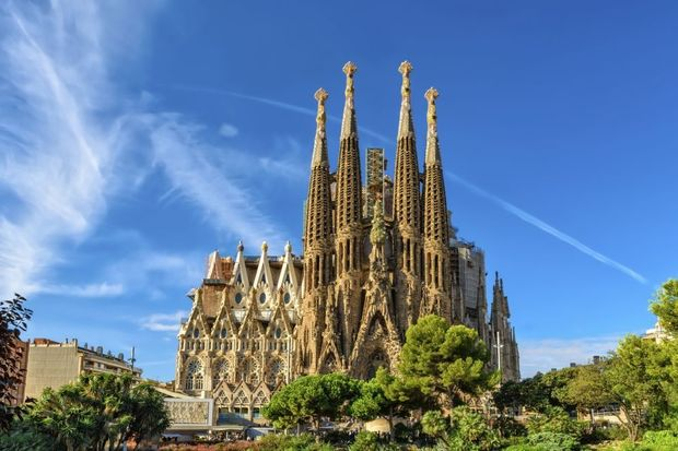 La Sagrada Familia Church is one of the largest churches in the world which is still in construction