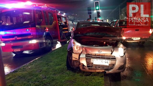 Osorno: Accidente vehicular en Avenida República