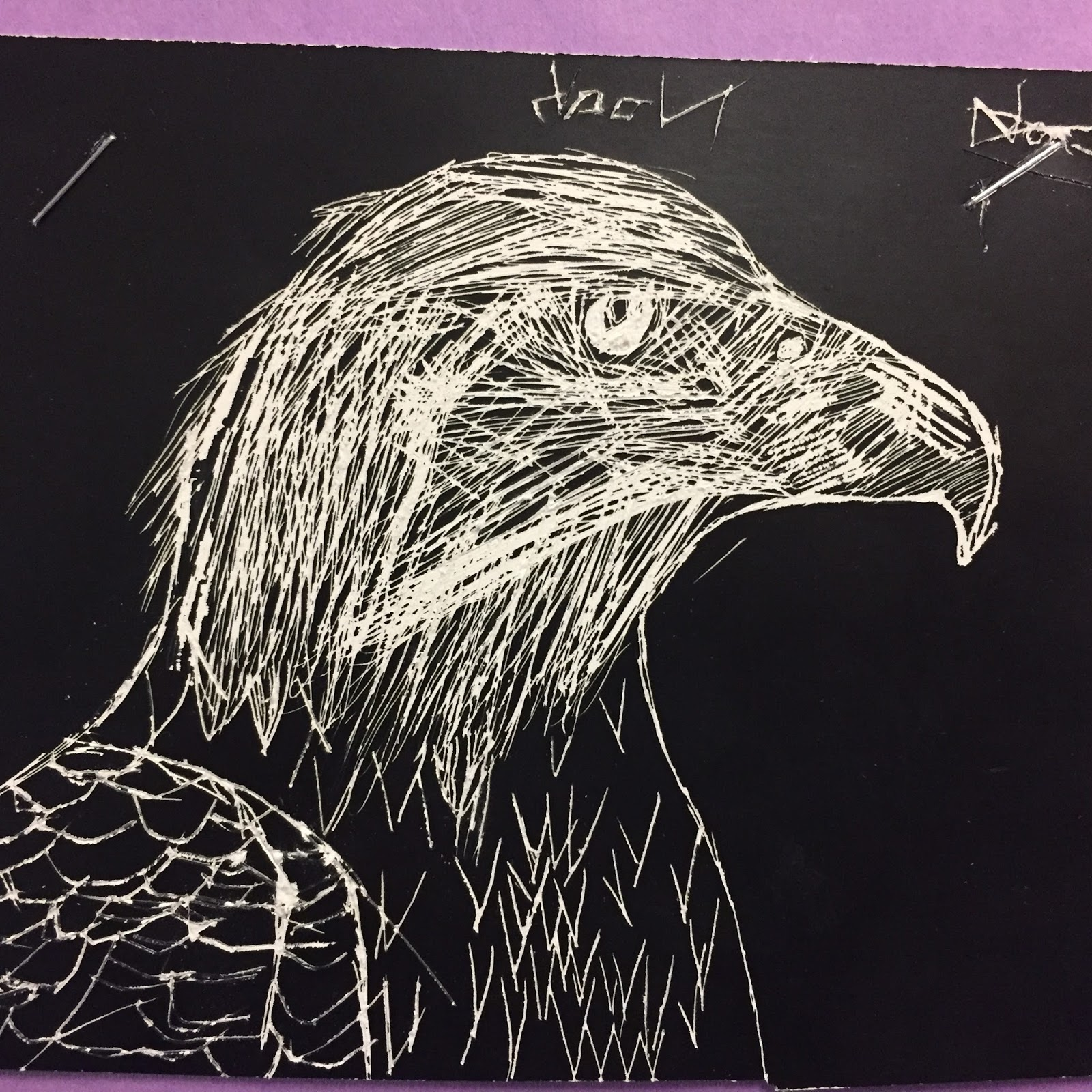Students Demonstrated Using Of A Variety Line To Show Value And Texture In Their Scratch Art Designs