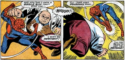 Amazing Spider-Man #61, don heck, john romita, spider-man punches the kingpin in the stomach