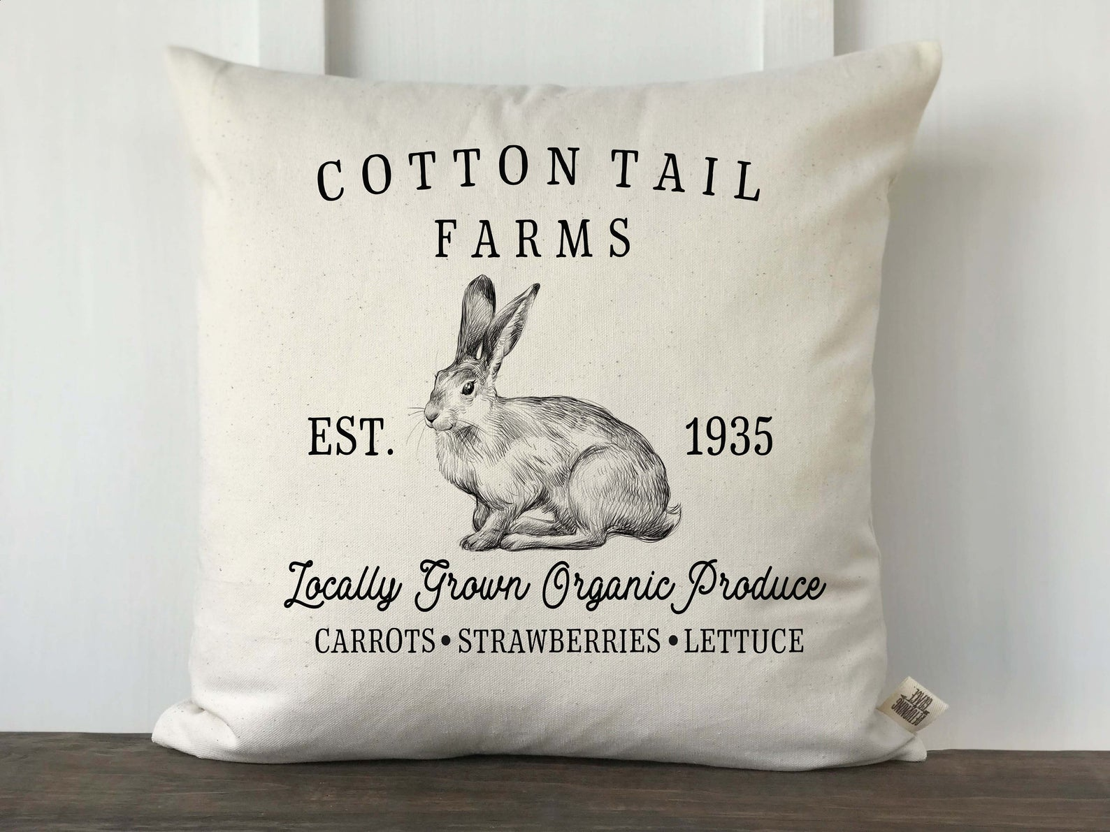 Cottontail Farms Easter Pillow