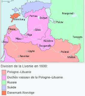 La Livonie en 1600