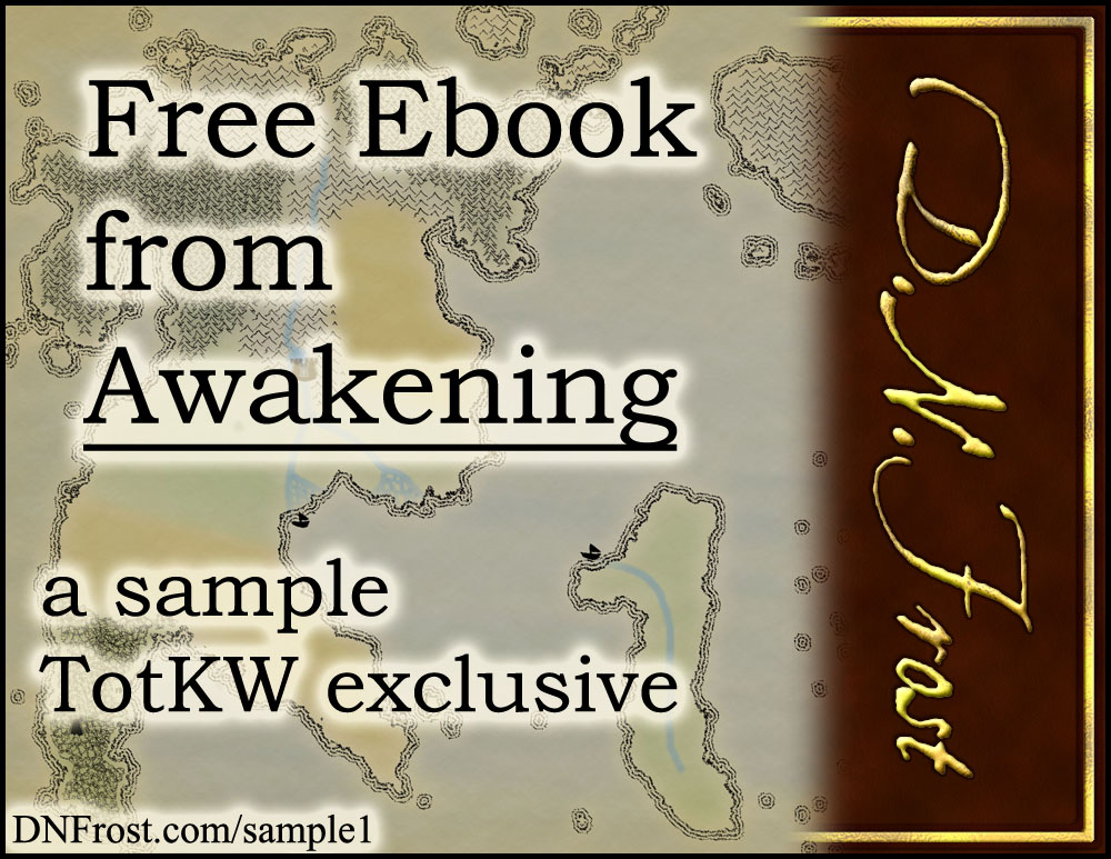 Free Ebook from Awakening: download the first eight chapters www.DNFrost.com/sample1 #TotKW An exclusive sample by D.N.Frost @DNFrost13 Part of a series.