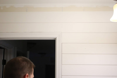 shiplap in a small bathroom