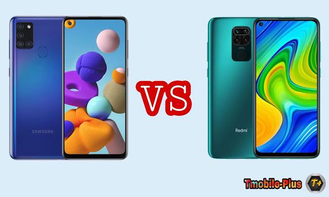 مقارنة بين هاتفين Redmi Note 9 وSamsung Galaxy A21s بسعر 3000 جنية