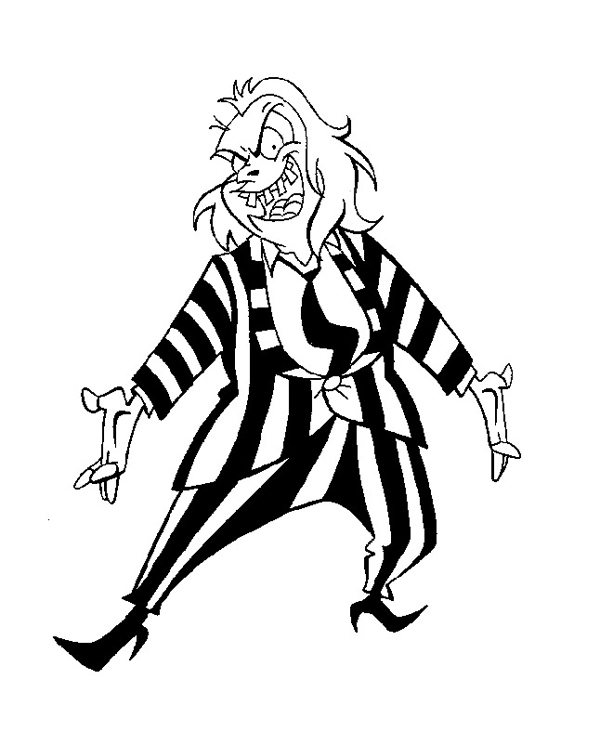 Living Lines Library Beetlejuice Tv Series 1989 1991 Model Sheets Drawings Production Cels