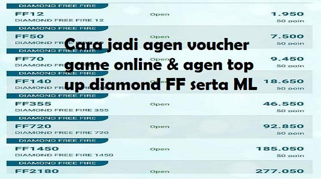 Cara Menjadi Agen Top Up Diamond FF