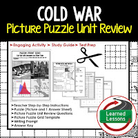American History Picture Puzzles are great for TEST PREP, UNIT REVIEWS, TEST REVIEWS, and STUDY GUIDES, Cold War