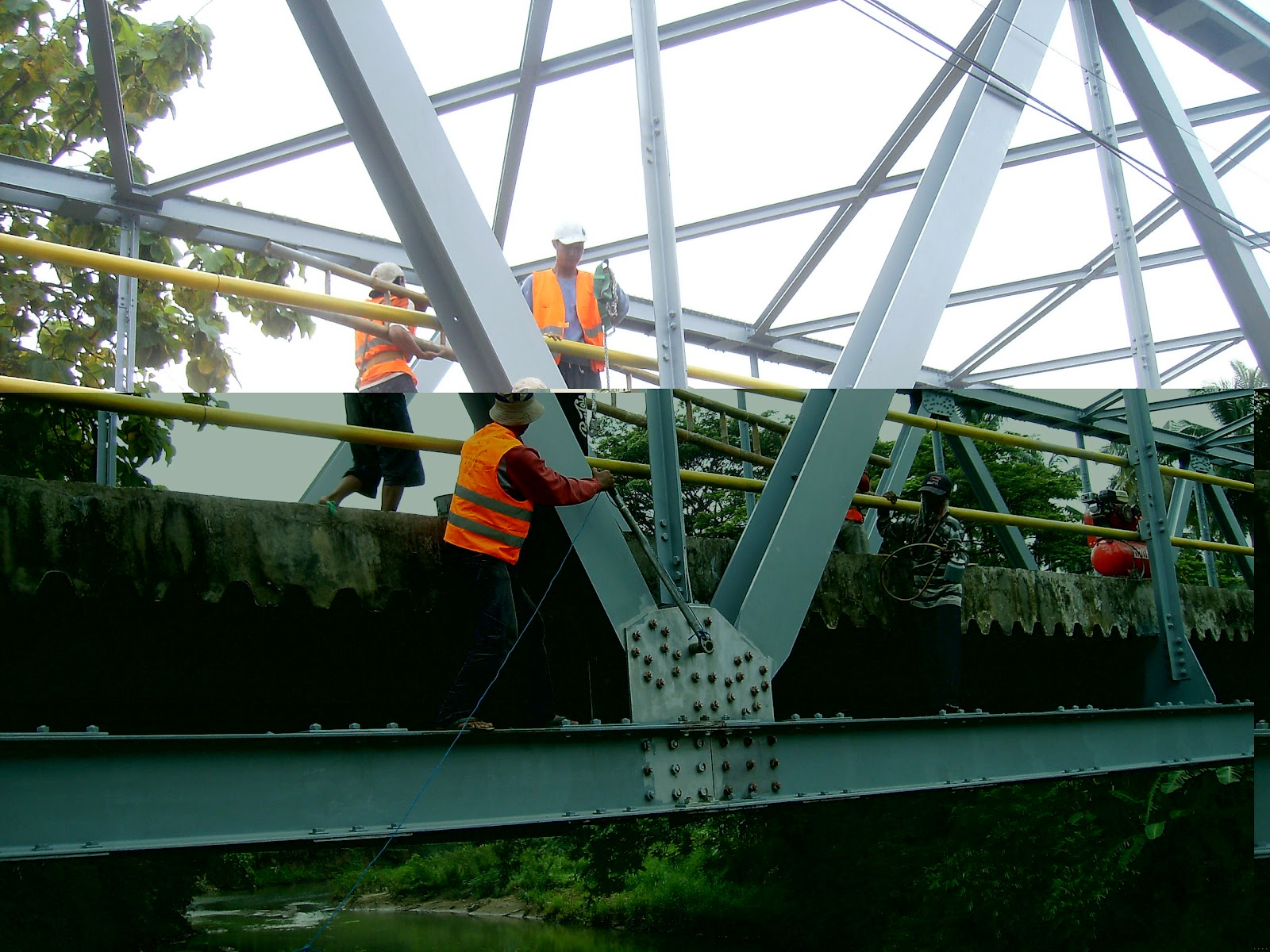 Pengecatan Jembatan Rangka  Perawatan Jembatan