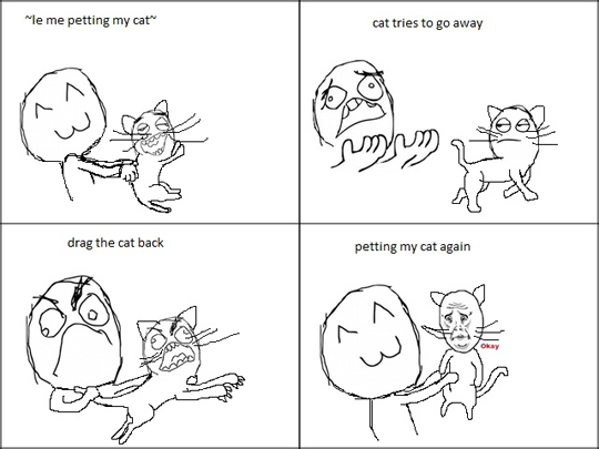 petting my cat
