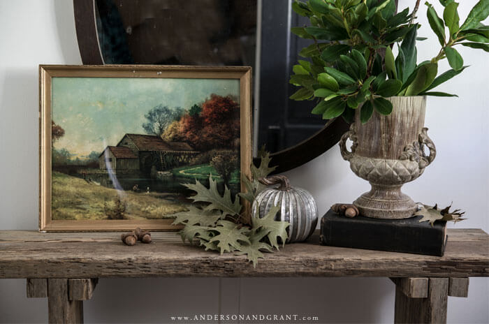 Every vignette needs a little vintage and a little nature - read on to find out what else you need for warmth in your fall decor.
