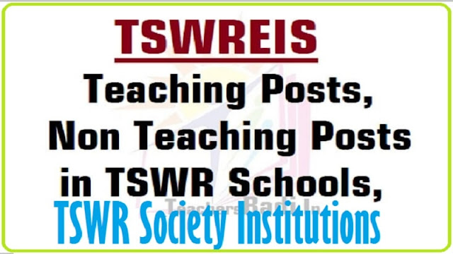TSPSC,Teaching,Non Teaching Posts,TSWREIS Institutions 2016