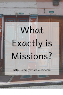 "Street facade in the city with overay ""What Exactly is Missions"""