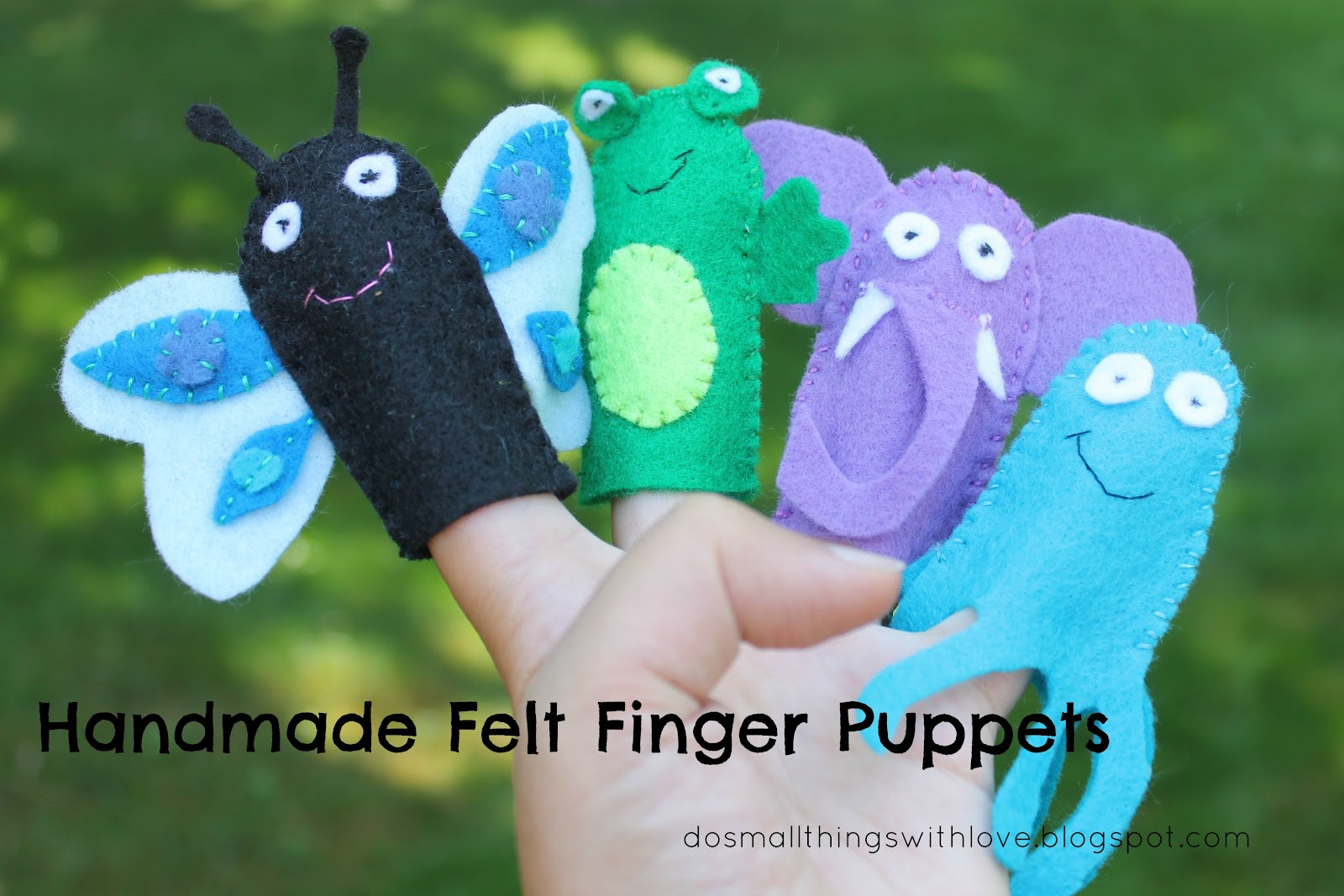 how to make handmade puppets felt finger puppets by do small things with happy 5091