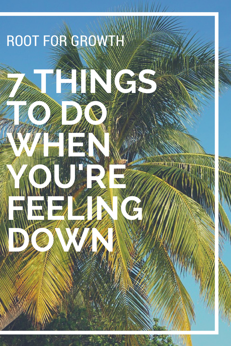 Feeling down? Read this post to get ideas to feel better. From walking out in nature and journaling this is a list of things to do when you're feeling down.