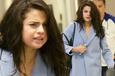 SELENA GOMEZ LOOKS TIRED AS SHE ARRIVES ATLANTA AIRPORT