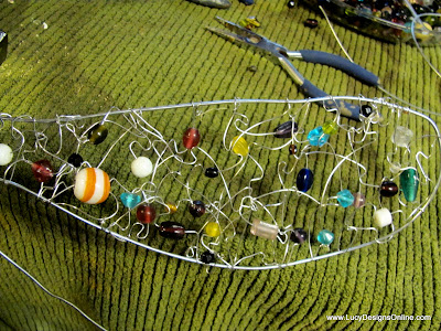 tutorial glass bead dragonfly wings