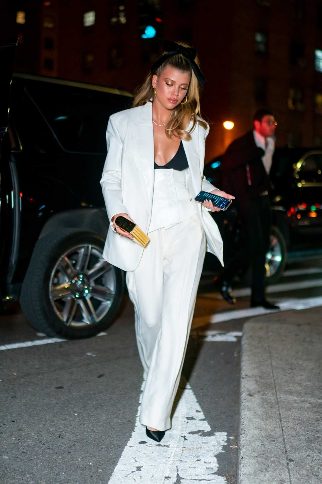 Sofia Richie Latest Astonishing Photos in White Outfit