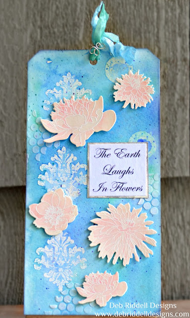 The Earth Laughs In Flowers Watercolour Tag