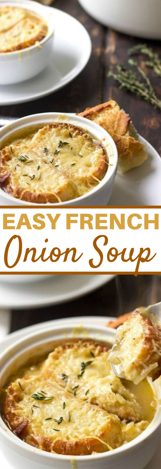 Easy French Onion Soup #dinner #soup #comfortfood #winter #easyrecipes