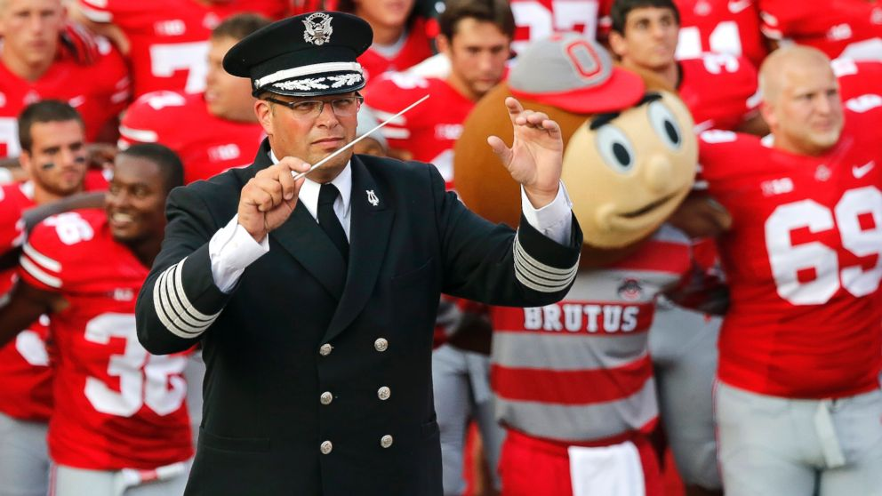 Jon Waters, Director, The Ohio State University Marching Band. Photo: AP.