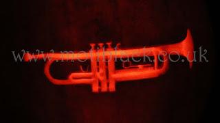 Trumpet carved on a Pumpkin