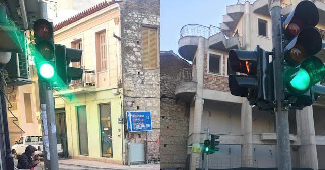 Φανάρια και στην διασταύρωση των οδών Σιμιτζοπούλου & Ινάχου στο Άργος