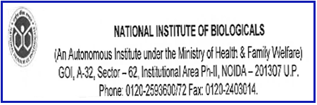 National Institute of Biologicals (NIB) Assistant Recruitment 2021