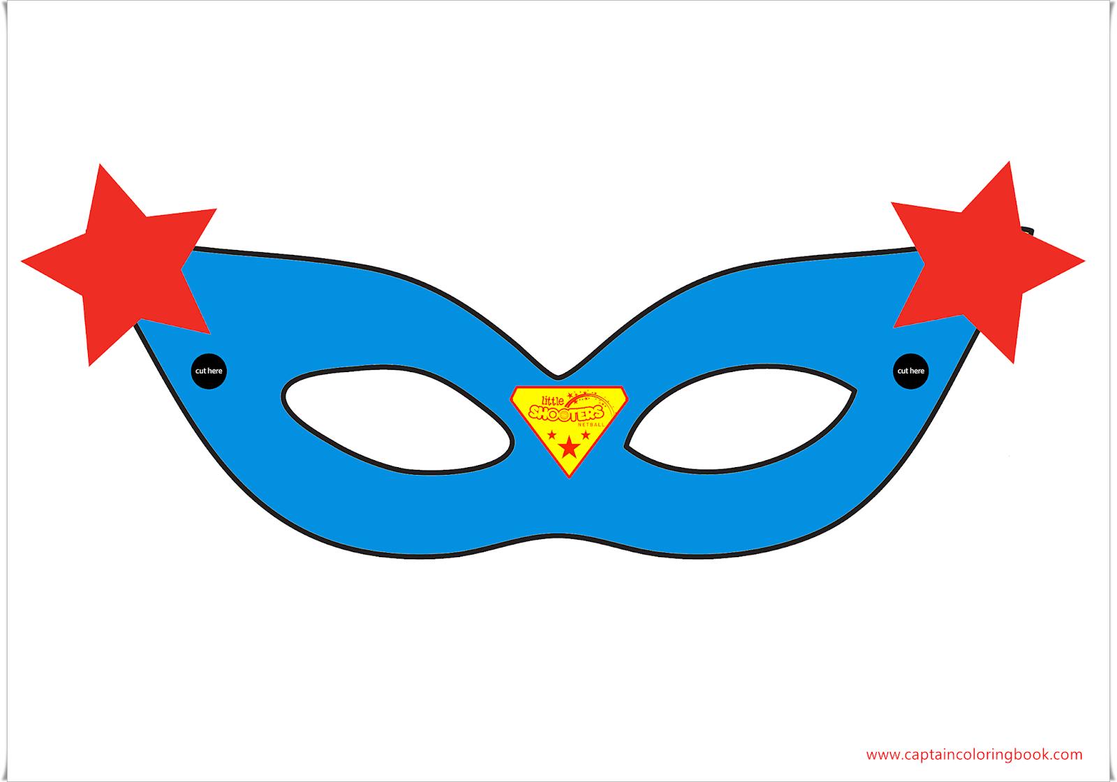 Super hero masak tample free printable coloring page super girl mask maxwellsz