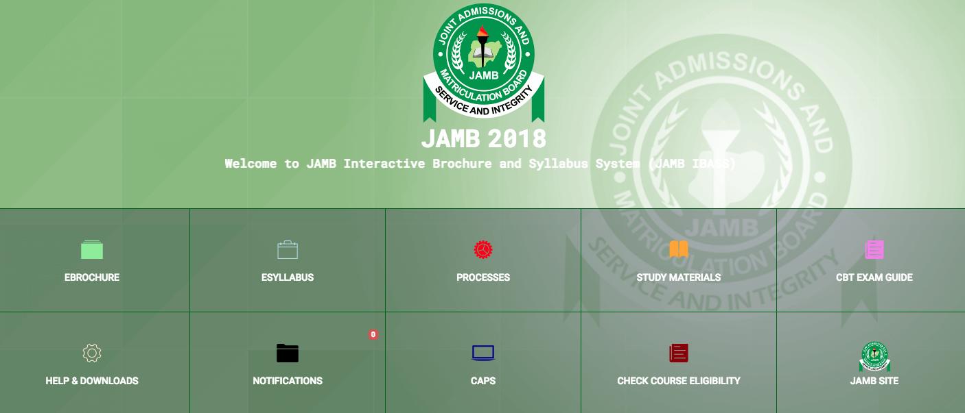 JAMB Course Eligibility Checker Portal 2018