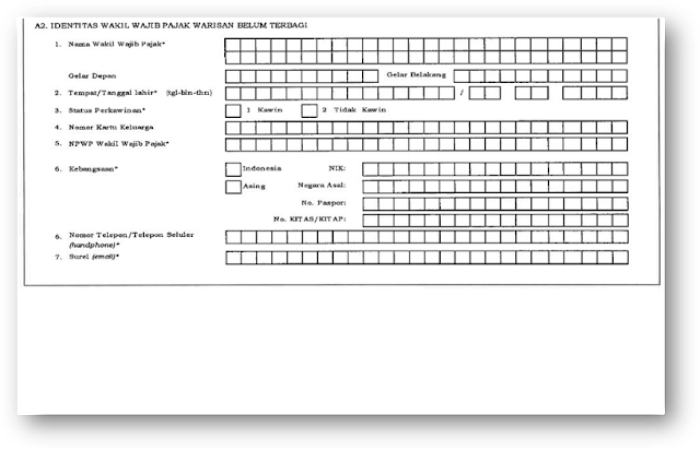 formulir pendaftaran NPWP Warisan Belum Terbagi