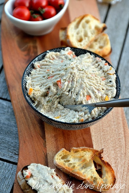 Mackerel rillettes with crunchy vegetables, by Sylvain Revelant