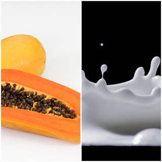 Papaya and milk on freckles