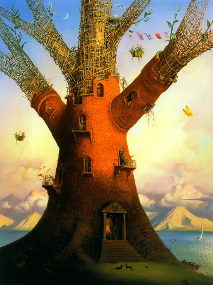 Vladimir Kush e as suas pinturas surrealista e mágicas