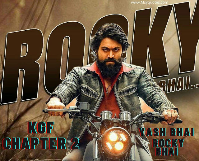 KGF 2 KGF Chapter 2 Yash Bhai Rocky Bhai Movie Download In Hindi Dubbed Quotes
