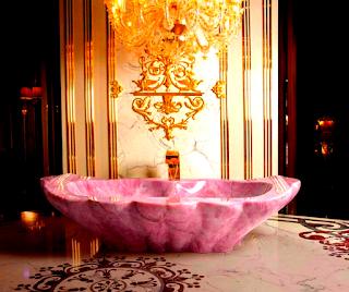 pink-rose-quartz-bathtub