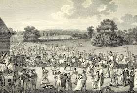 Hyde Park on Sunday from Modern London by R Phillips (1804)